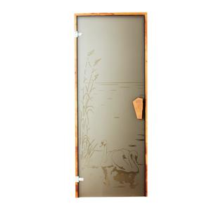 Двери для бани и сауны Лебедь