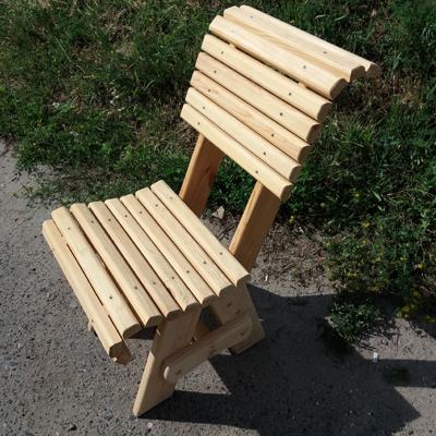 Стул деревянный из реек 2