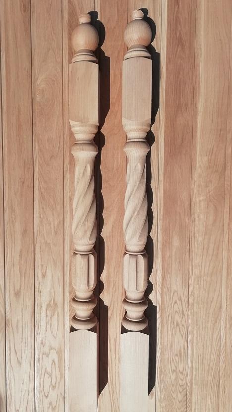 Балясина бук столб массив